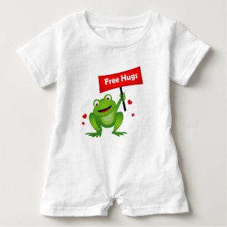 free hugs cute frog baby romper