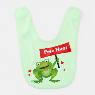 free hugs cute frog bib