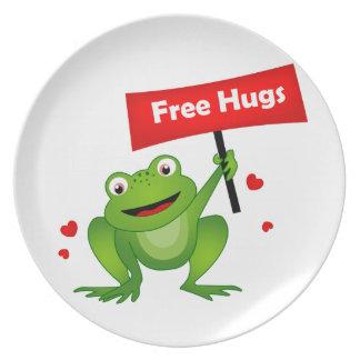 free hugs cute frog dinner plates