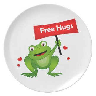 free hugs cute frog plates