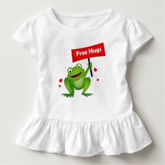 free hugs cute frog toddler t-shirt