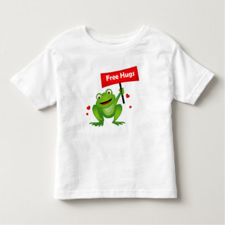 free hugs cute frog toddler t-shirt