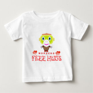 Free Hugs-Cute Monkey-Morocko Baby T-Shirt