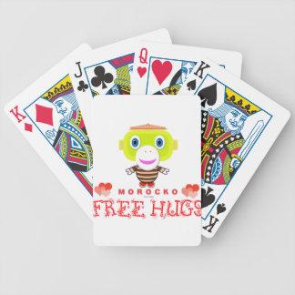 Free Hugs-Cute Monkey-Morocko Bicycle Playing Cards