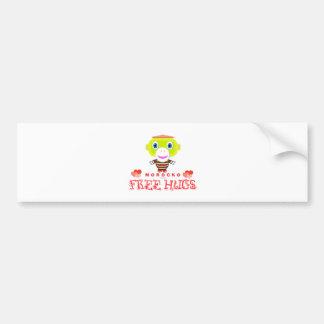 Free Hugs-Cute Monkey-Morocko Bumper Sticker