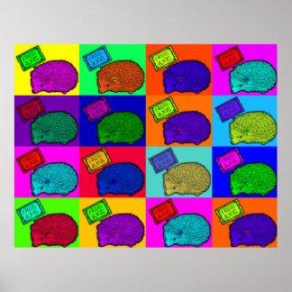 Free Hugs Hedgehog Colorful Pop Art Popart Posters