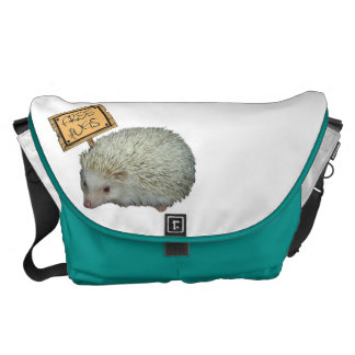 Free Hugs Hedgehog Courier Bags