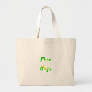 free hugs large tote bag