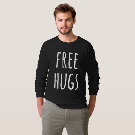Free Hugs Men's American Apparel Raglan Sweatshirt