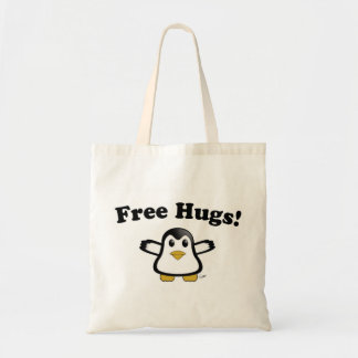 Free Hugs Penguin Tote Budget Tote Bag