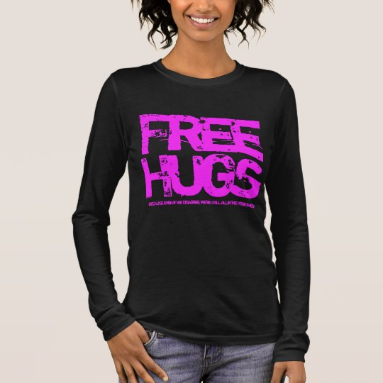 Free Hugs Political Tee for Liberal Activists