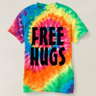 Free Hugs rainbow color tiedye t shirts