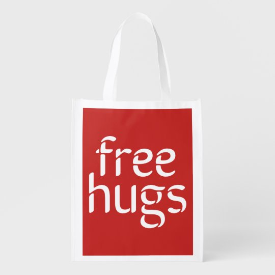 Free Hugs Reusable Bag Market Tote