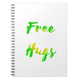 free hugs spiral notebooks