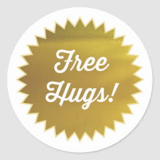 Free Hugs! Stickers / Faux Gold Foil