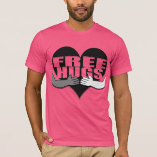 Free Hugs with Heart and Hands T-Shirt
