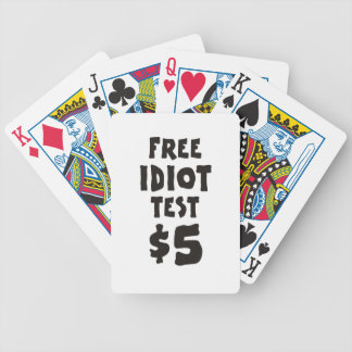 Free Idiot Test Bicycle Playing Cards