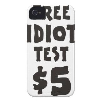 Free Idiot Test Case-Mate iPhone 4 Cases