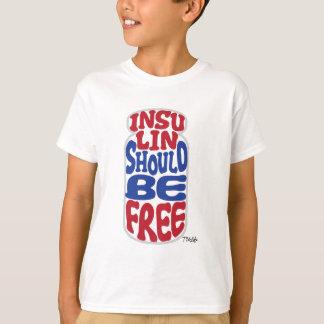 Free Insulin [Red-White-Blue] Kid's T-Shirt