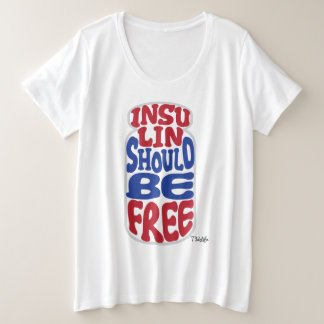 Free Insulin [Red-White-Blue] Plus Size T-Shirt