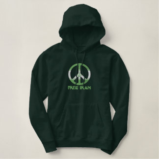 Free Iran Embroidered Hoodie