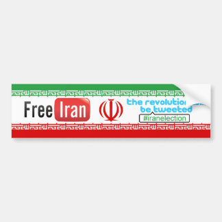 Free Iran - Revolution Tweeted Bumper Sticker