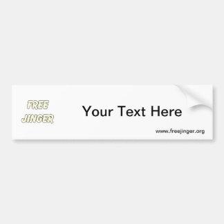 Free Jinger (2) Car Bumper Sticker
