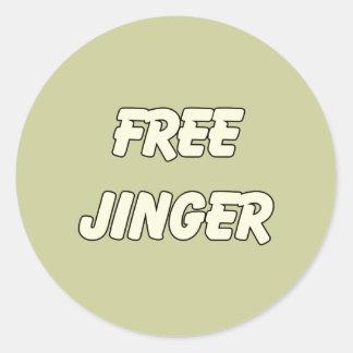 Free Jinger (2) Classic Round Sticker