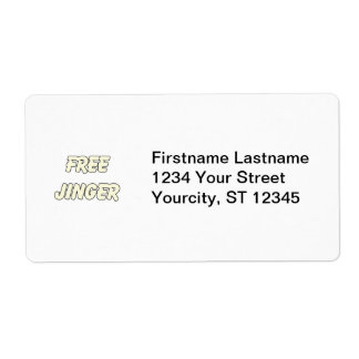 Free Jinger (2) Personalized Shipping Labels