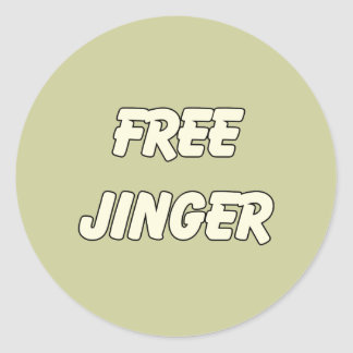 Free Jinger (2) Round Sticker