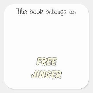 Free Jinger (2) Square Sticker