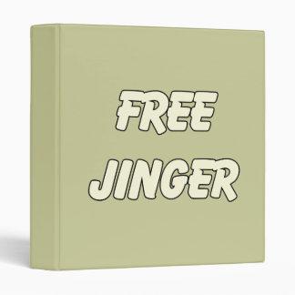 Free Jinger (2) Vinyl Binders