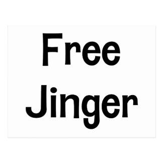 Free Jinger Postcard