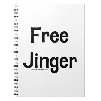 Free Jinger Spiral Note Book