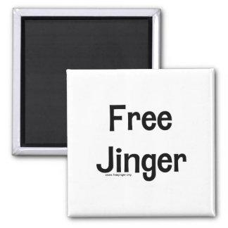 Free Jinger Square Magnet
