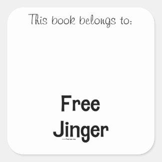 Free Jinger Square Sticker