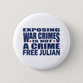 Free Julian Assange - WikiLeaks 2 Inch Round Button