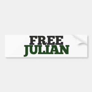 Free Julian  Bumper Sticker
