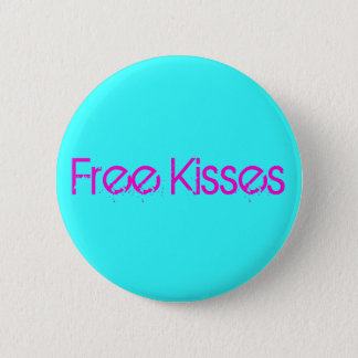 Free kisses 2 inch round button