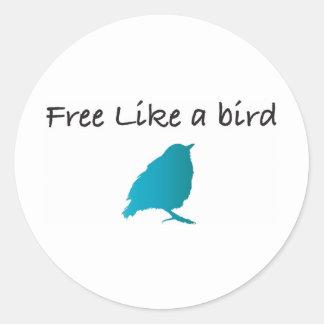 Free like a bird classic round sticker