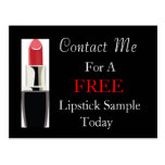 Free Lipstick Sample Postcard