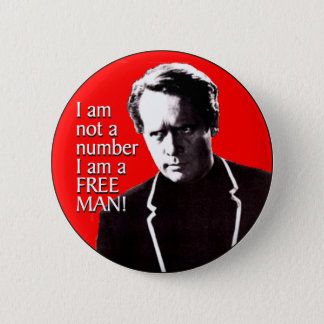 Free Man 2 Inch Round Button