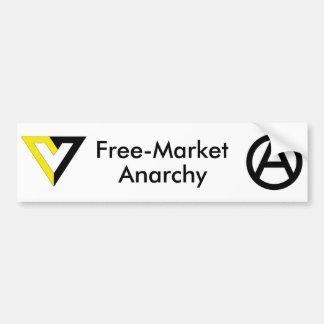 Free-Market Anarchy Bumper Sticker