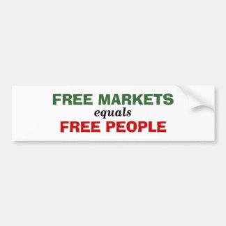 Free Markets equals Free People Bumper Sticker