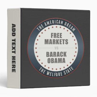 Free Markets Versus Obama Vinyl Binder