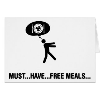 Free meals lover greeting card