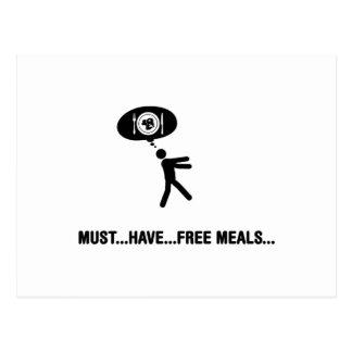 Free meals lover postcard