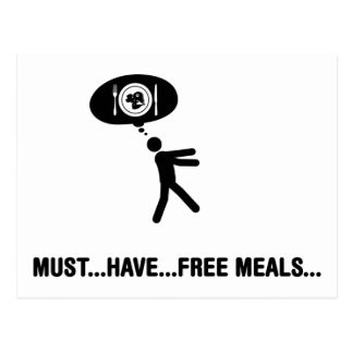 Free meals lover postcard