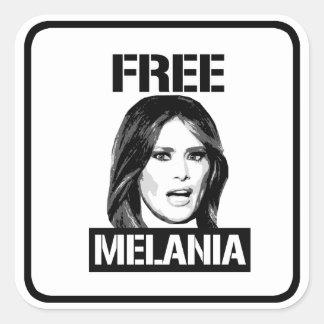 FREE MELANIA - SQUARE STICKER