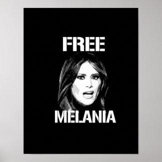 FREE MELANIA - WHITE - POSTER